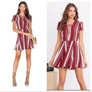 Lovers + Friends Compass Fit & Flare Dress Stripe